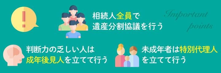遺産分割協議書を作成する際の注意点